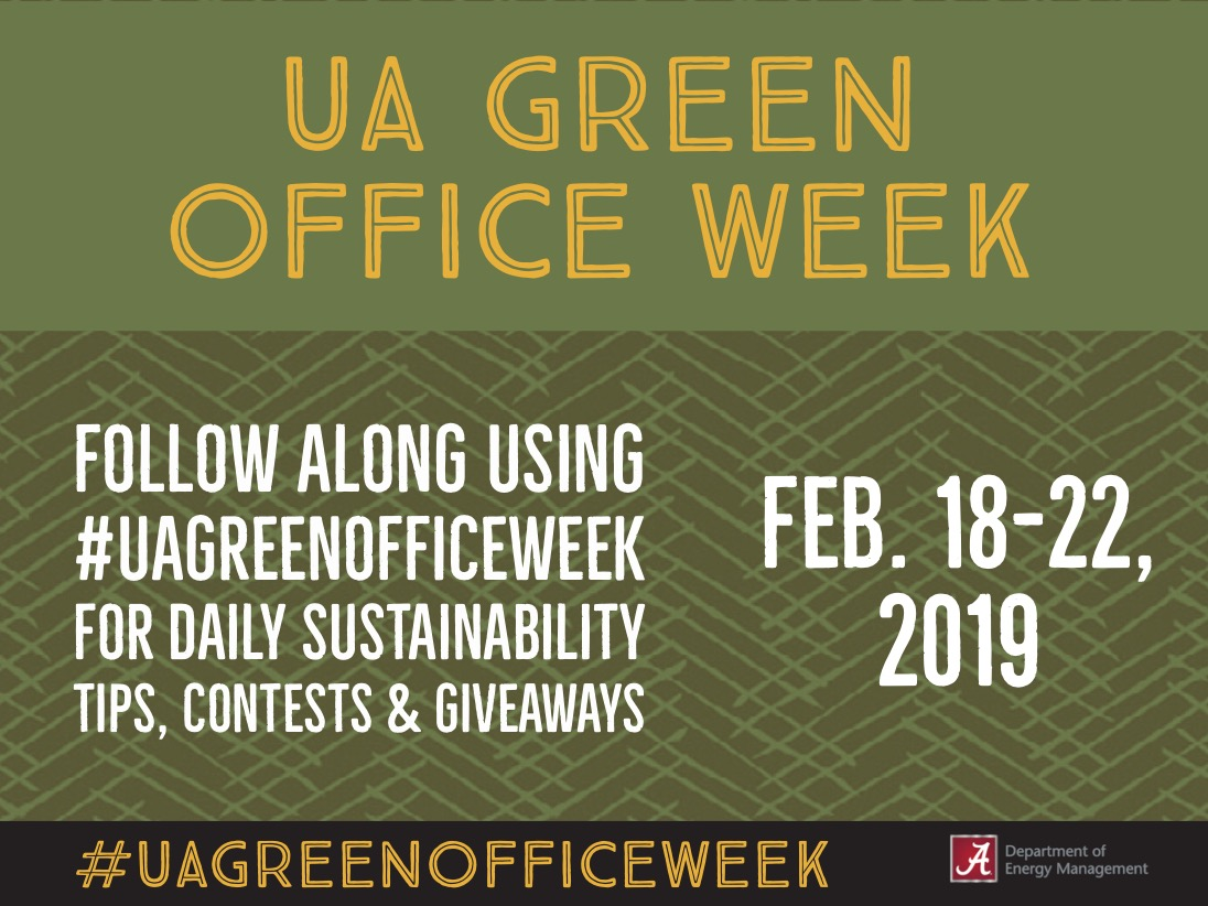 This graphic announced the dates and information about green office week.
